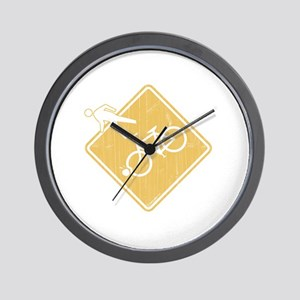 Over the Bars Wall Clock