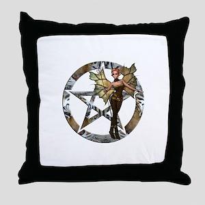 Pentacle Woodland Fairy 2 Throw Pillow