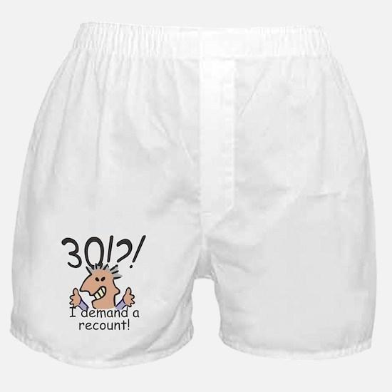 Recount 30th Birthday Boxer Shorts