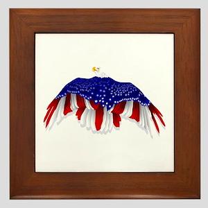 American Eagle Flag Framed Tile