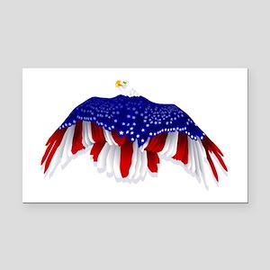 American Eagle Flag Rectangle Car Magnet
