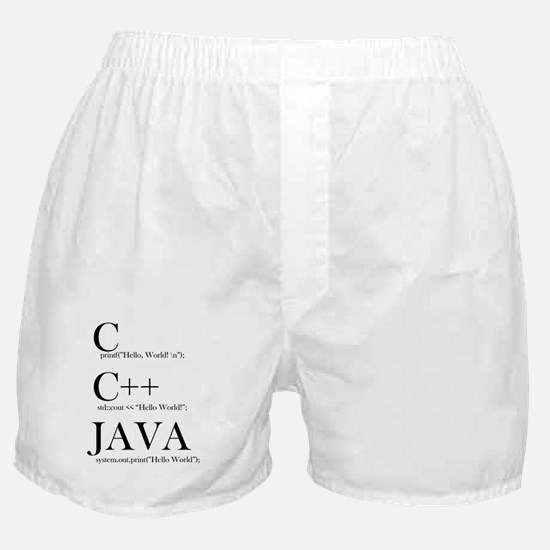 Unique Java language Boxer Shorts