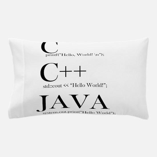 Java, C, C#, language, programming, te Pillow Case