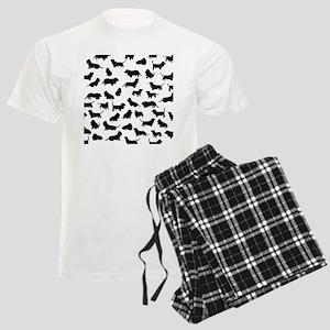 Basset Hounds Men's Light Pajamas