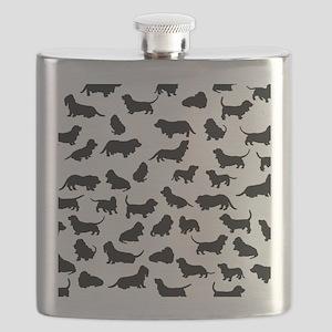 Basset Hounds Flask