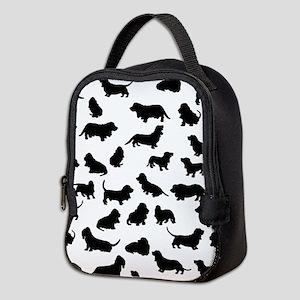 Basset Hounds Neoprene Lunch Bag