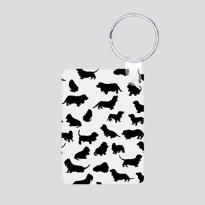 Basset Hounds Aluminum Photo Keychain
