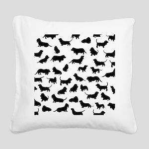 Basset Hounds Square Canvas Pillow
