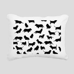 Basset Hounds Rectangular Canvas Pillow