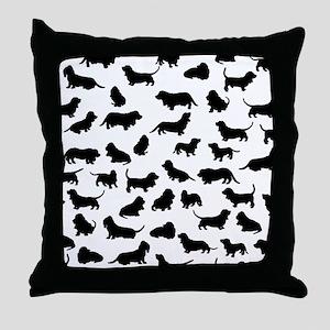 Basset Hounds Throw Pillow