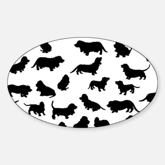 Basset Hounds Sticker (Oval)