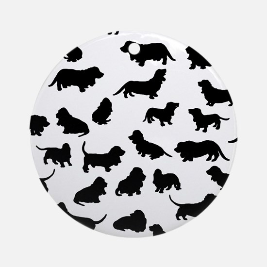 Basset Hounds Ornament (Round)