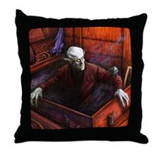 Dracula Nosferatu Vampire Throw Pillow