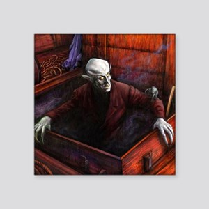 "Dracula Nosferatu Vampire Square Sticker 3"" x 3"""