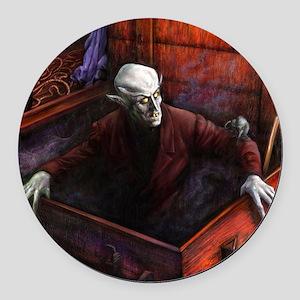 Dracula Nosferatu Vampire Round Car Magnet