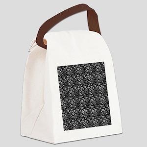 Cute Doodle Hearts Pattern Backgr Canvas Lunch Bag