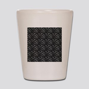 Cute Doodle Hearts Pattern Background Shot Glass