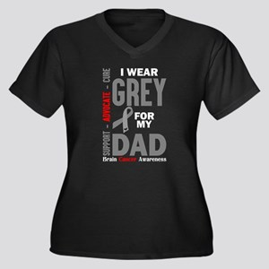 I Wear Grey For My Dad (Brain Cancer Awareness) Pl