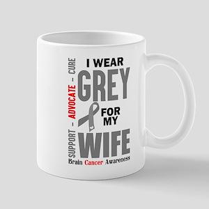 I Wear Grey For My Wife (Brain Cancer Awareness) M