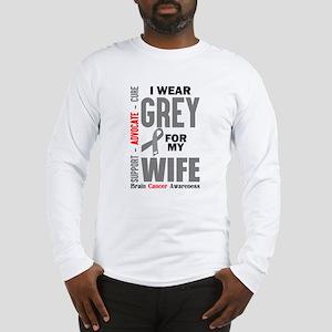 I Wear Grey For My Wife (Brain Cancer Awareness) L