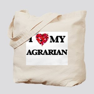 I love my Agrarian hearts design Tote Bag