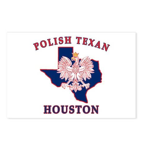 Houston Polish Texan Postcards (Package of 8)