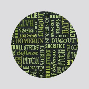 Fastpitch Softball Game Chalkboard Words Button
