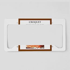croquet License Plate Holder