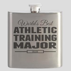 Worlds Best Athletic Training Major Flask