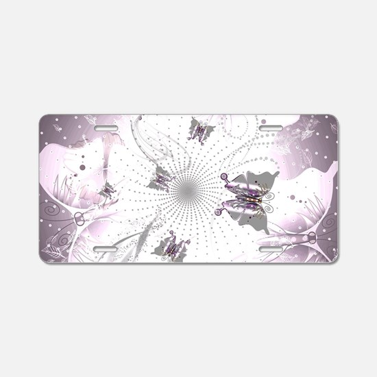 Abstract, Butterfly Aluminum License Plate