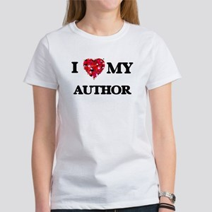 I love my Author hearts design T-Shirt