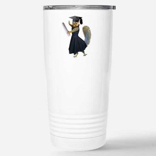 Girl Squirrel Grad Stainless Steel Travel Mug