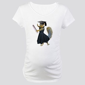 Girl Squirrel Grad Maternity T-Shirt