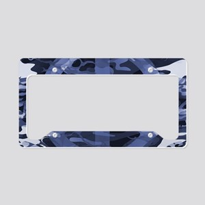 Camouflage Peace Sign License Plate Holder