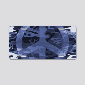 Camouflage Peace Sign Aluminum License Plate