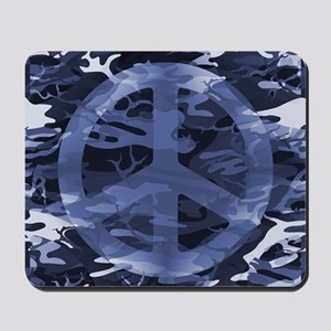 Camouflage Peace Sign Mousepad