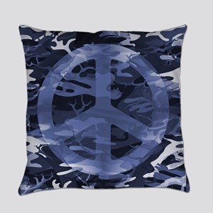 Camouflage Peace Sign Everyday Pillow
