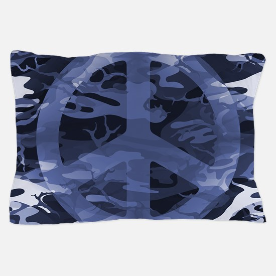 Camouflage Peace Sign Pillow Case