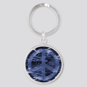 Camouflage Peace Sign Keychains