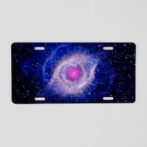 Helix Nebula (UV) Aluminum License Plate