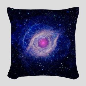 Helix Nebula (UV) Woven Throw Pillow