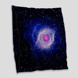Helix Nebula (UV) Burlap Throw Pillow