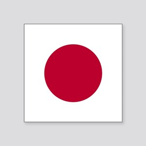 "Japan Flag Square Sticker 3"" X 3"""