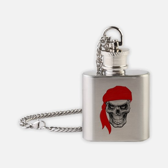 Red Skull Flask Necklace