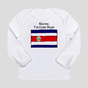 Kiss Me Im Costa Rican Long Sleeve T-Shirt