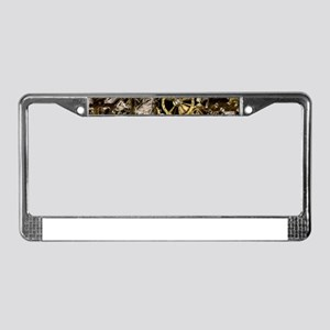 Metal Steampunk License Plate Frame