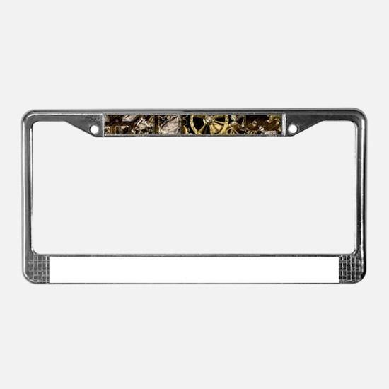 Metal Steampunk License Plate Frame