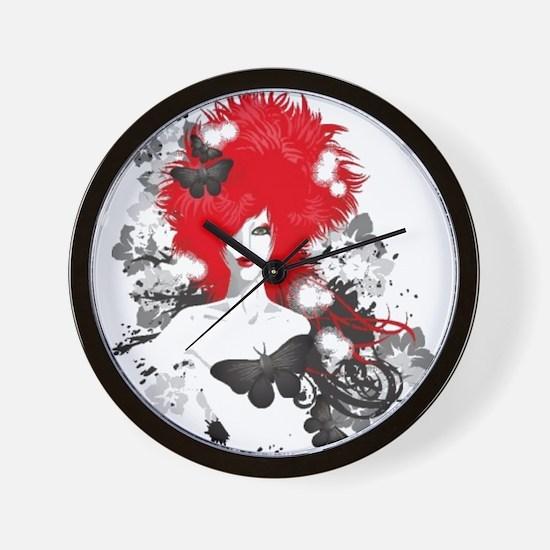 Red Hairs Wall Clock