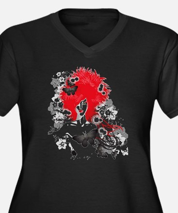 Red Hairs Plus Size T-Shirt