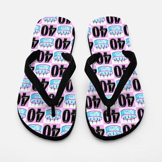 40th Party Flip Flops